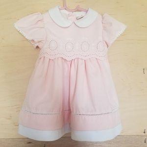 Vintage B.T Kids Pink White Dress